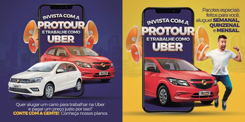 Aluguel de Carro para Uber e Motoristas de Aplicativos-